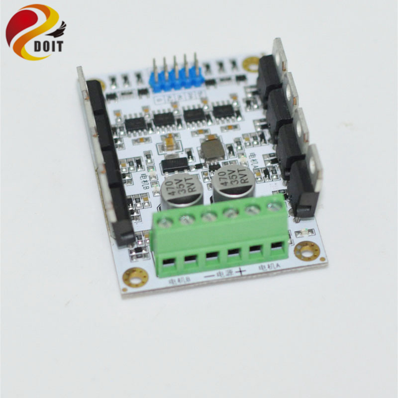 Official DOIT DC Big Power Motor Drive Module DC Motor Driver 10A/300W High Power Speed Regulator for 2wd/4wd Robot Tank Car Toy 775 dc motor power motor 12v13000 big model