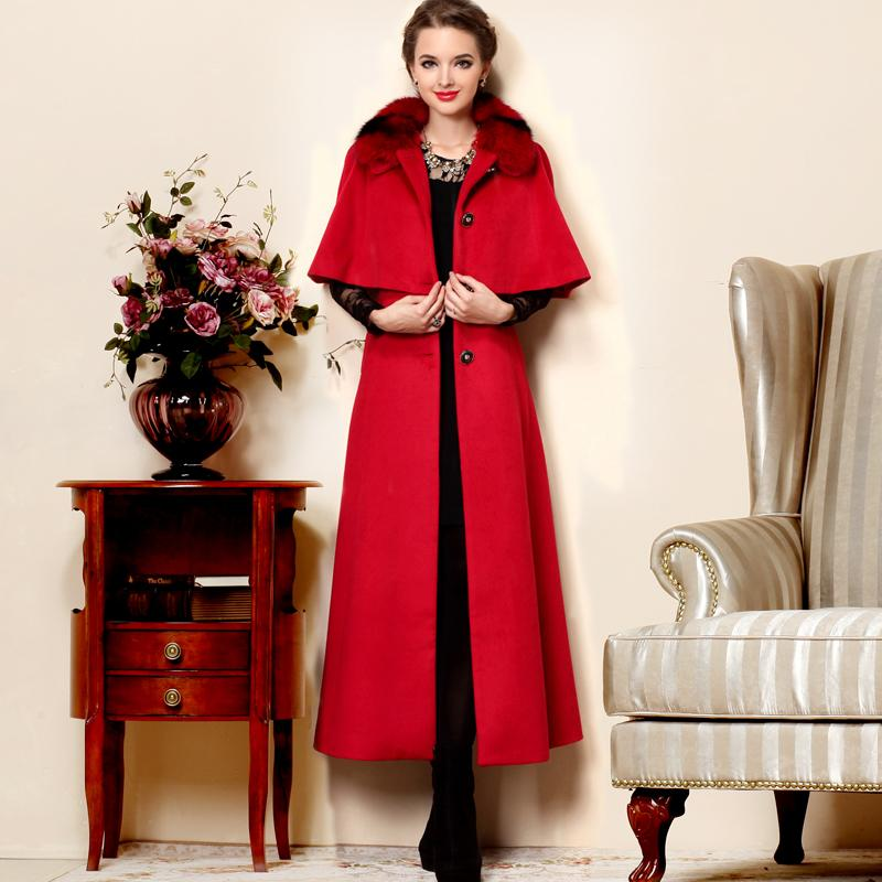 53a84e2c3c9c 2013 winter fashion women s slim long paragraph wool trench coat warm  outerwear cloak plus size ladies  winter long wool jacket