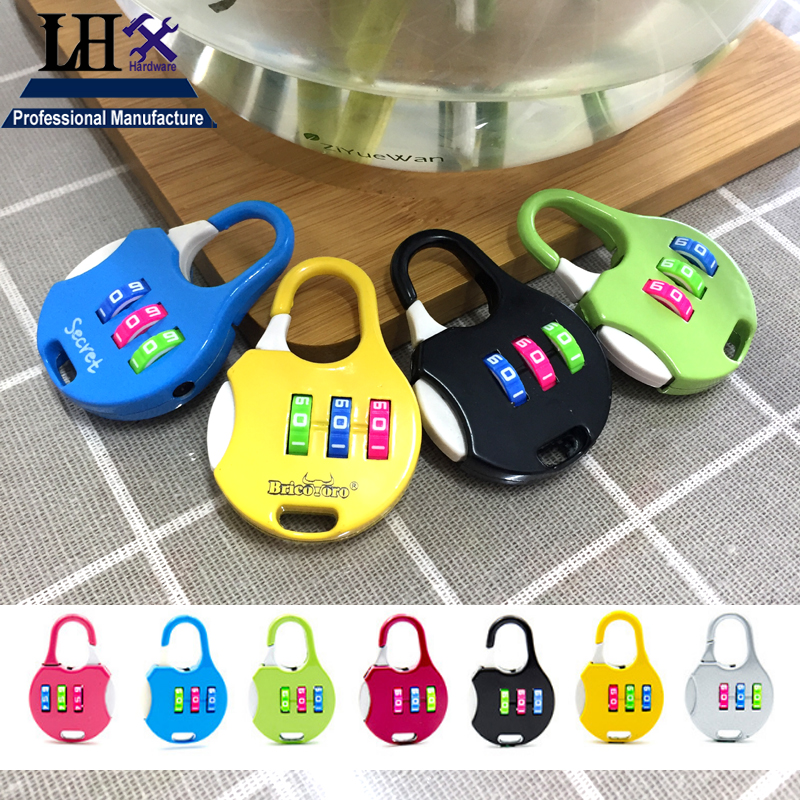 LHX MS527 Combination Padlock Code Password Lock for Storage-box Jewelry Box Women Bag Handbag Backpack Girl Diary Drawer DIY i