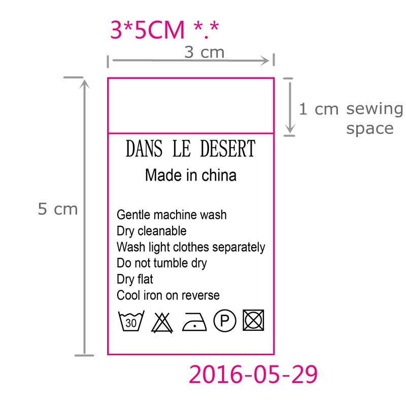Aliexpress.com : Buy Custom garment instructions White