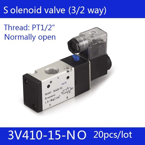 все цены на 20PCS Free shipping Pneumatic valve solenoid valve 3V410-15-NO Normally open DC24V AC220V,1/2