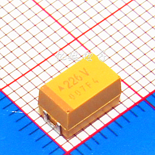 Chip Tantalum Capacitor 22UF 35V Type C 6032 226V 10% Duct Capacitive Yellow Polarity Capacitor