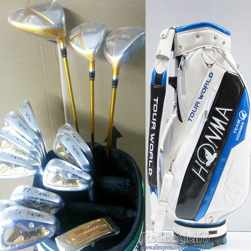 New Compelete club set HONMA S-02 4 star  Golf clubs Driver+Fairway wood+irons+bag+putter Graphite Golf shaft free shipping new golf clubs honma s 05 4star compelete club set golf driver fairway wood irons bag putter graphite golf shaft free shipping