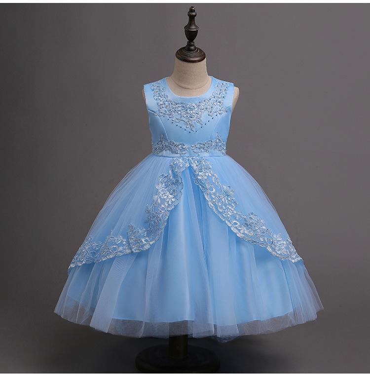 3 15 Años Vestido Para Niñas 2018 Vestidos Azules De Verano Para Niñas Tutú Con Mangas De Encaje Disfraz De Princesa Para Niñas Vestidos De Fiesta