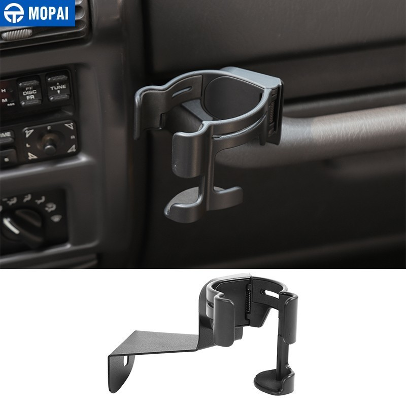 MOPAI Universal Car Bracket for Wrangler TJ Car Cup Bottle Stand Mobile Phone Holder for Jeep Wrangler TJ 1997 2006 Accessories in Universal Car Bracket from Automobiles Motorcycles