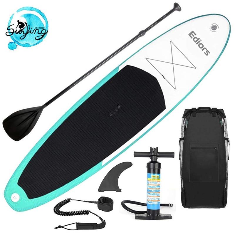 Gonflable 305X76X15 CM stand up Paddle Planche De Surf planche de surf D'eau Sport conseil sup avec Pompe À Palettes Pied corde de sécurité