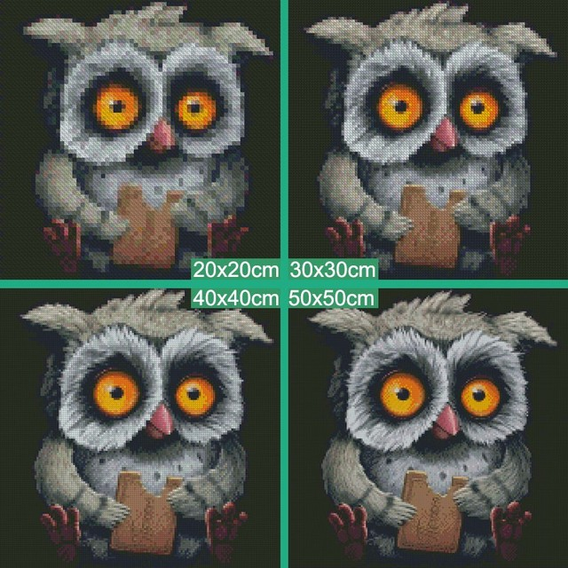 Meian,Full,Diamond Embroidery,Animal,Owl,5D,Diamond Painting,Cross Stitch,3D,Diamond Mosaic,Needlework,Crafts,Christmas,Gift