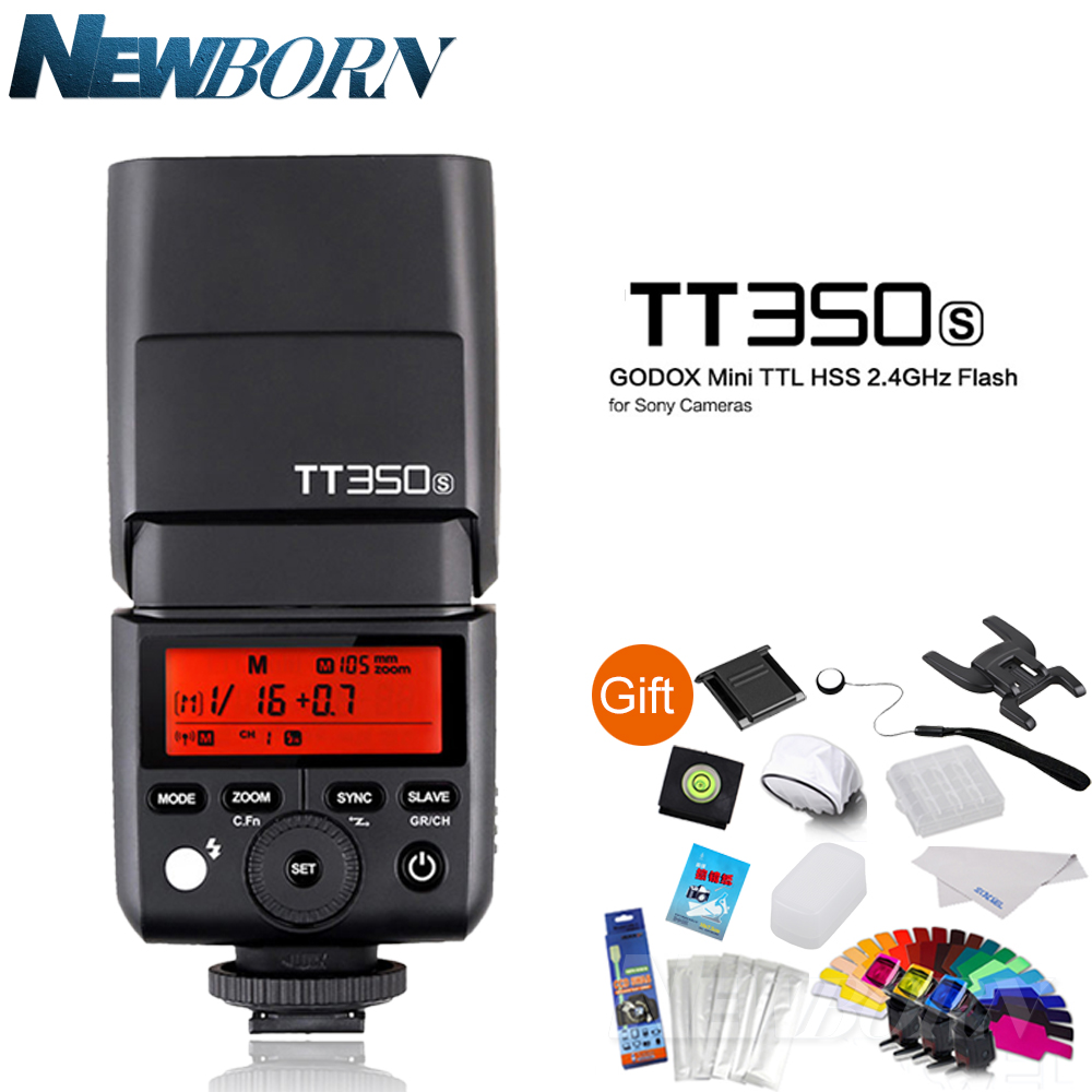 Godox Mini Thinklite TTL TT350S Camera Flash sppedlite High Speed 1/8000s GN36 for Sony Digital Camera A7 A6000 A6500 godox mini thinklite i ttl tt350n camera flash high speed 1 8000s gn36 for nikon digital camera