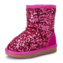 Winter Sequin Girls Shoes Kids Snow Botas Children's Boots Botte Enfant Mujer Brand Mom and Daughter Children's Boots Footwear