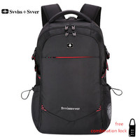 svvisssvver male men Multifunction USB charging fashion business casual tourist anti theft waterproof 15.6 inch Laptop backpack