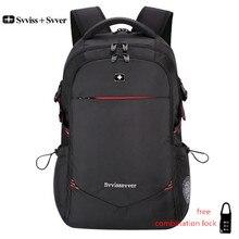 Svvisssvver мужской Универсальный USB зарядка Модный Бизнес Повседневный туристический Противоугонный водостойкий 15,6 дюймов рюкзак для ноутбука