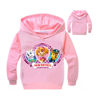 Cotton Fall Paws Dog Patro Design Kids Clothing Children Hooded Boys Grils Long Sleeves Outerwear Vetement