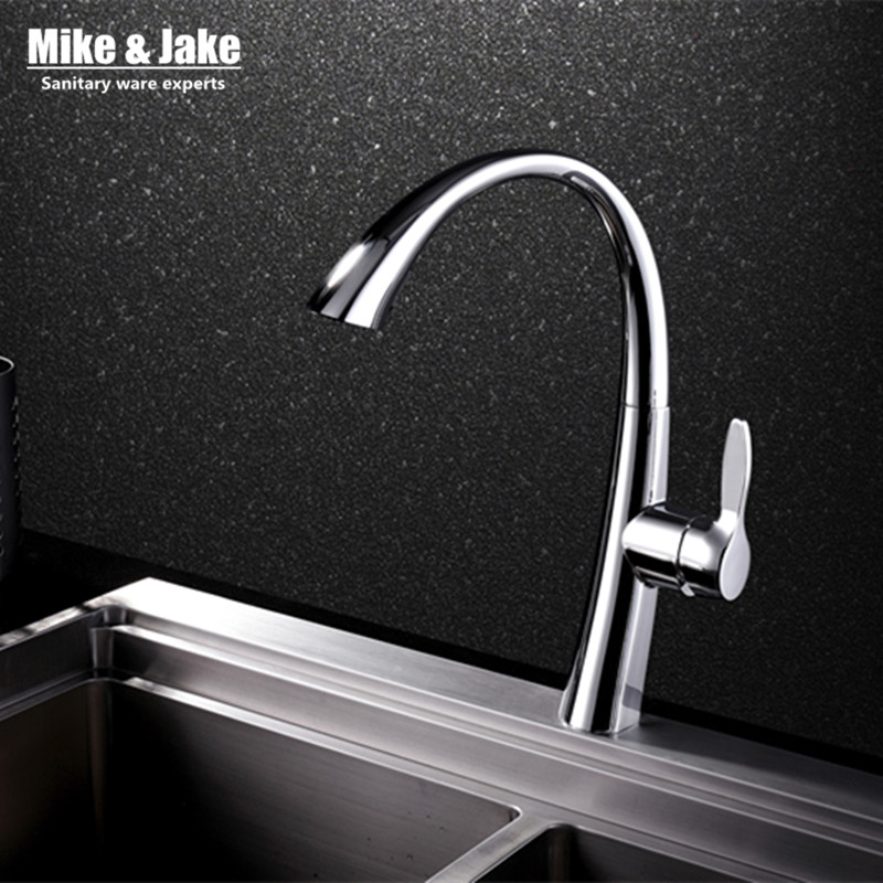 Pull Out Kitchen Faucet Sink Mixer Faucet Deck Mount Pull Out Dual Sprayer Nozzle Hot Cold Mixer