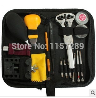 Latest 12pcs Watch tool repair kit for rolex watch hobbyist and watch repairer with nylon bag
