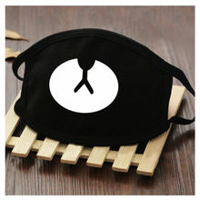 2018 Cotton Mouth Face Mask Unisex Korean Style Kpop Black Bear Cycling Anti-Dust Facial Protective Cover 1PCS