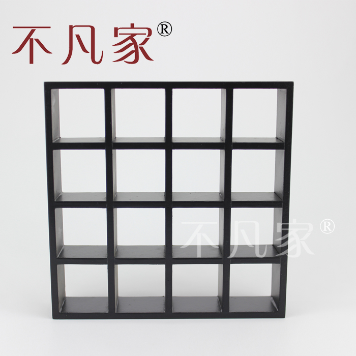 Fine 1/12 Scale Miniature Furniture Black Hand Carved Shelving Unit For Dollhouse