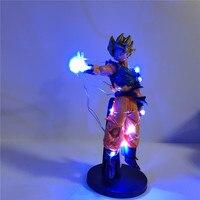 Gouk Dragon Ball Lampara Anime Figure Dragon Ball Z Son Goku Super Saiyan Led DIY Night Light Power PVC Collect Model Toy