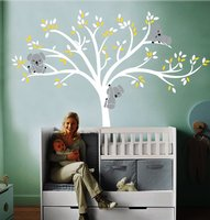 Oversized 220x196cm Large Koala Tree Wall Decals for Baby Nursery baby Nursery Vinyl Wall Decor Stickers FREE SHIPPING