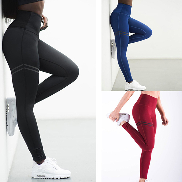 c934ae9fe2a Super Elastic Fitness Sports Leggings Women Slim Solid Yoga Pants Quick Dry  GYM Tights Compression Push Up Workout Pants