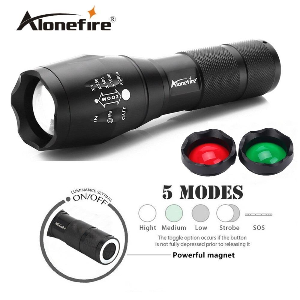 AloneFire G700-N XM-L T6 alumínium vízálló Zoom led zseblámpa Mágneses munka Fáklya lámpa Autójavítás 18650 akkumulátor újratölthető