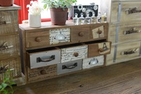 1PC Zakka Retro Grocery Wooden Desktop Organizer Drawer Cabinets Home Furnishing Decoration Wood Storage Box ENM 002