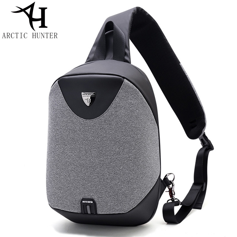 ARCTIC HUNTER Large Capacity Chest Pack Messenger Bags Mens School Bag 2018 New Modern M ...