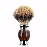 ZY Luxury Best Badger Hair Men Shaving Brush Shave Beard Soap Brush Barber Face Cleaning Tool