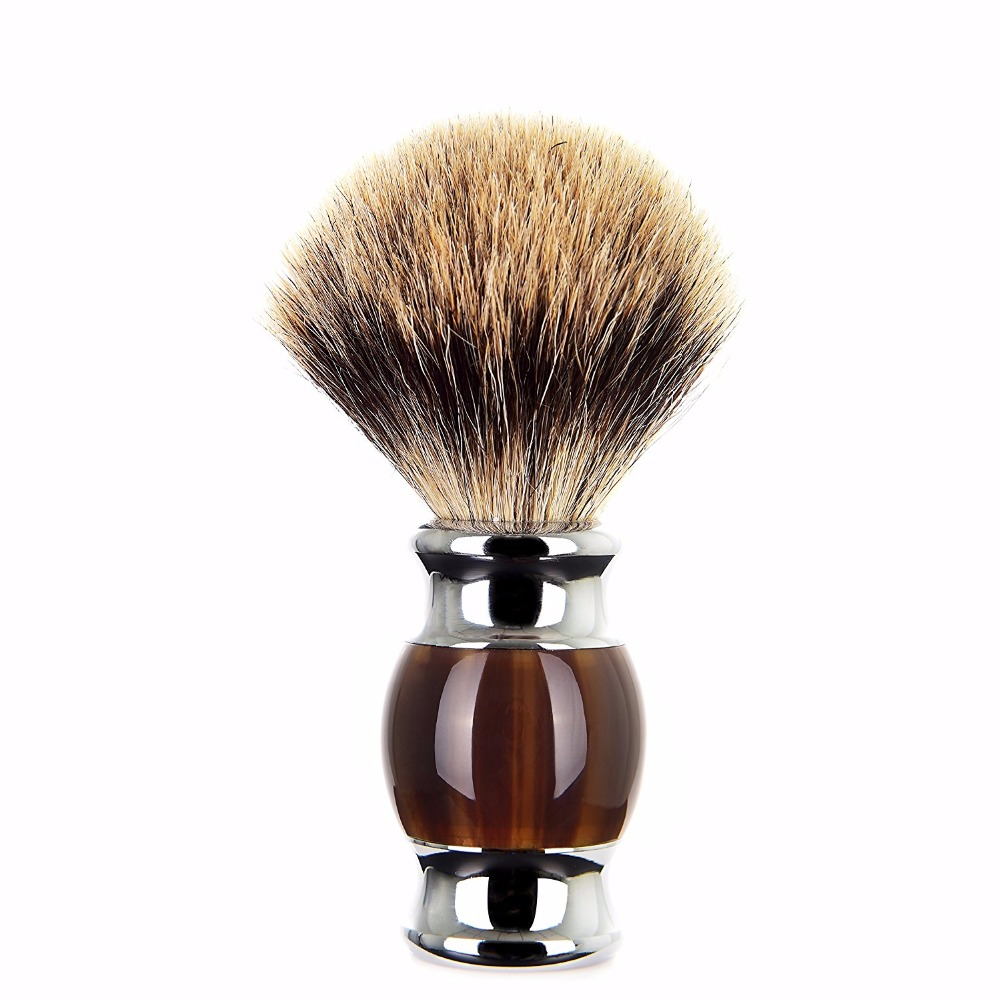 купить ZY Luxury Best Badger Hair Men Shaving Brush Shave Beard Soap Brush Barber Face Cleaning Tool по цене 1285.15 рублей