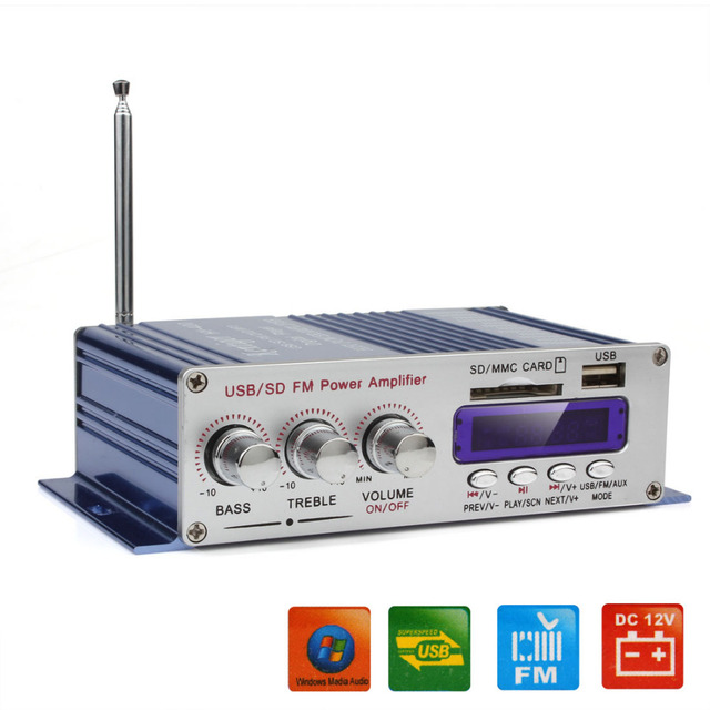 Best Offers HY-400 12V Car Digital Display Power Amplifier Support USB / SD Card Input with Remote Control