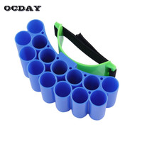 OCDAY Wholesales 14 Reload Clip Magazines Round Darts Replacement Plastic Magazines Sports Toy Soft Bullet Clip For Nerf Outdoor