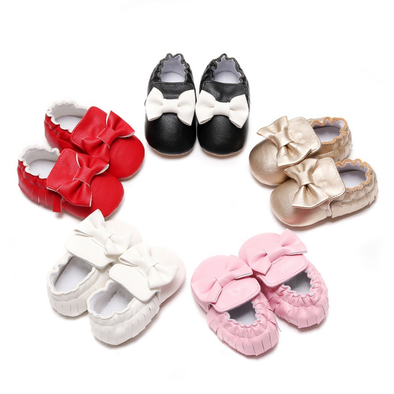 5 Colors Brand Spring Autumn Baby PU Leather Shoes Newborn Boys Girls Shoes Bowknot First Walkers Baby Moccasins 0-18 Months