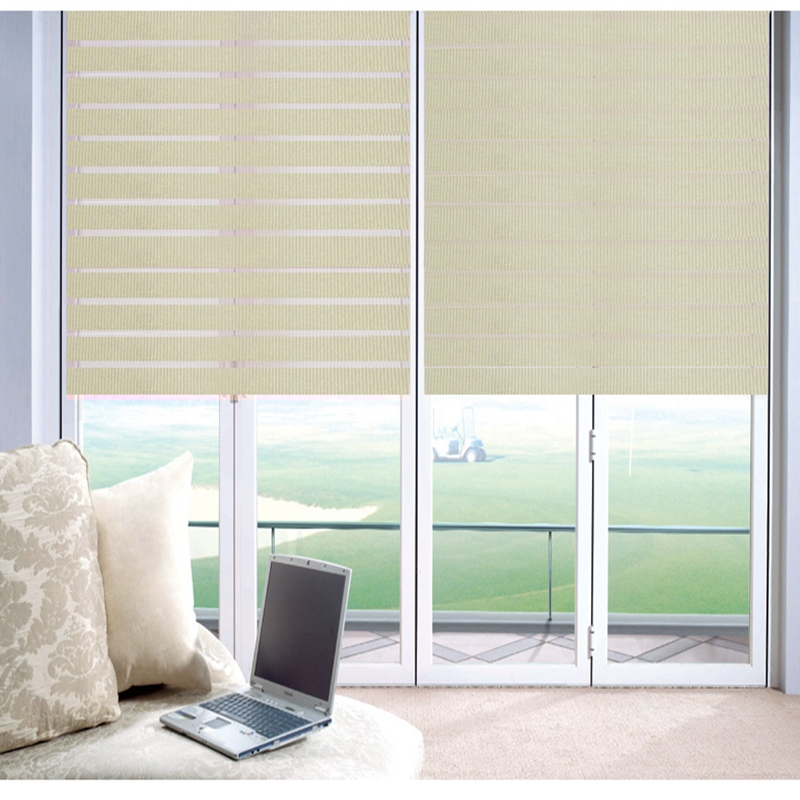 Zebra Blinds Window Shades Double layer Roller Blinds Waterproof Ivory Sunscreen Vinyl Custom Cut to Size Curtains