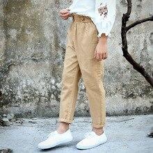 Casual Girls Pants Korean Children Clothing Soft Pure Color Leggings Kids Elastic Waist Trousers Spring Autumn Clothes Pants 12Y недорого