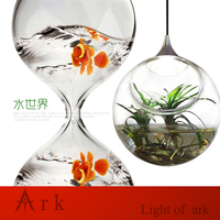 Mini Resin Crafts Decoration Miniature Glass Pot Led Pendant Lamp Fairy Terrarium Potting Garden Decor Miniature