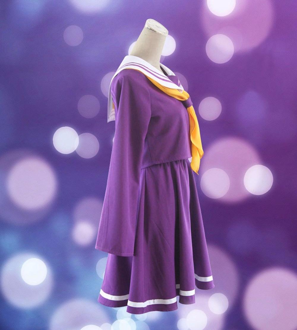 Inget spel inget liv cosplay Shiro kostym halloween kvinnor kläder - Maskeradkläder och utklädnad - Foto 2