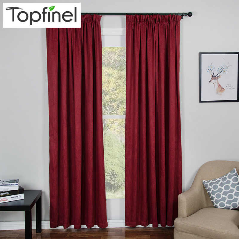 Topfinel Thick Thermal Solid Modern Blackout Curtains for Living Room Bedroom Door Window Curtains Panel Drapes Window Treatment