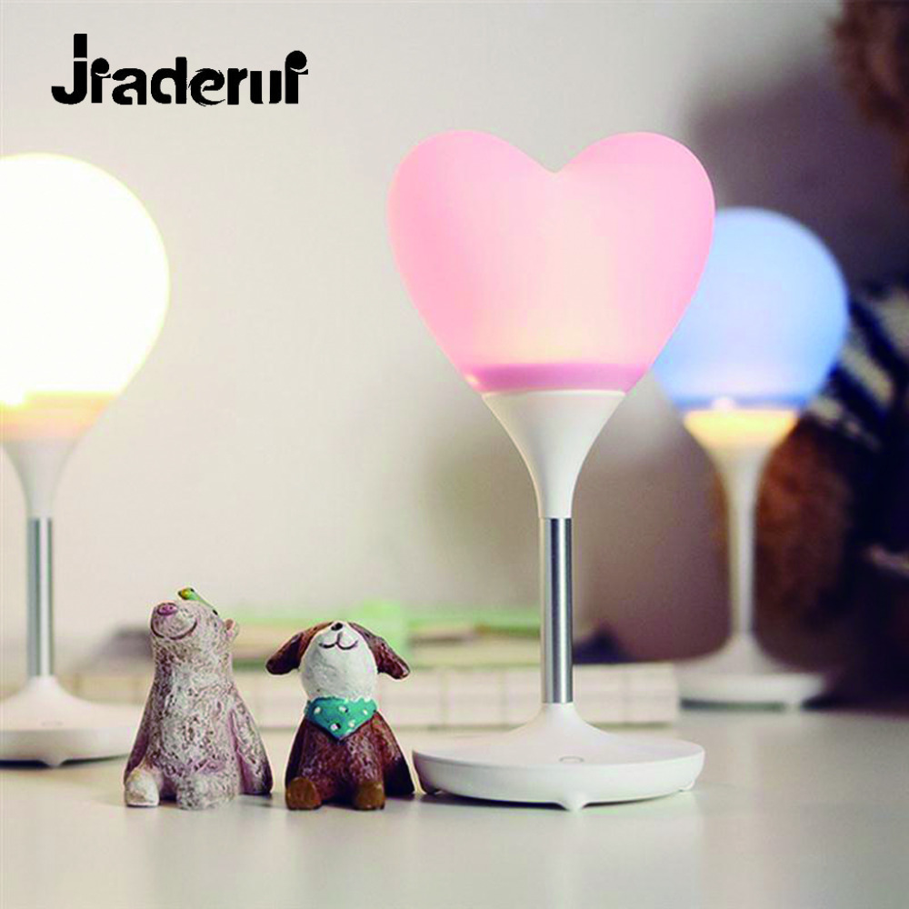 Jiaderui Heart Balloon Lamp Led Night Lights USB Charging Wireless Lighting Table Lamp for Kids Bedroom Reading Desk Decor Lamps mini led usb bulb protable lighting computer desk lamp mobile power usb charging small night lights highlight led lamp spotlight