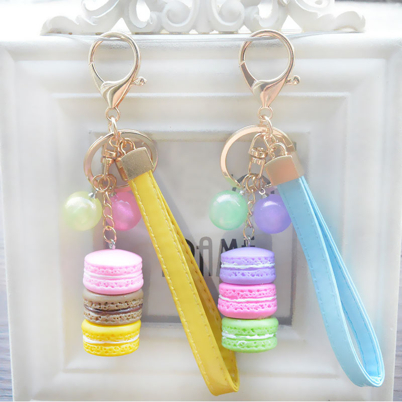 1PC Hot Women Tassel Key Chain Women Key Ring Accessories Korean Version Candy Beads Cake Pattern Car Keychain Jewelry Bag Charm все цены