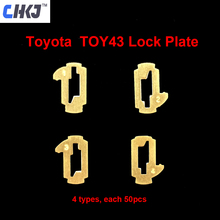 CHKJ TOY43 سيارة قفل ريد لوحة لتويوتا كامري كورولا NO.1.2.3.4 قفل القصب قفل لوحة كل 50 قطعة مع 10 قطعة + هدية الربيع