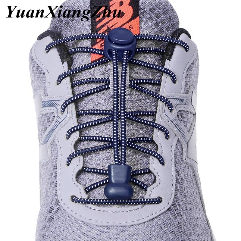 1 Pair Sports Elastic ShoeLaces No Tie Shoe Laces Kids Adult Lazy Locking Laces Shoe Accessories Lacets Elastique Chaussure