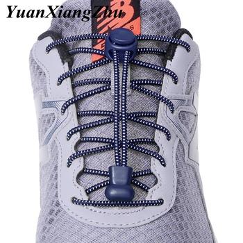 1 para sportowe elastyczne sznurowadła buty bez sznurówek sznurowadła dla dzieci dla dorosłych leniwe sznurowadła akcesoria do obuwia lacety elastique chaussure tanie i dobre opinie YuanXiangZhu CN (pochodzenie) Poliester Polka dot Elastic Shoelaces SZNUROWADŁA 20180512 100CM 23 color Advanced Sports shoelaces
