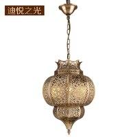 New European lamps and lanterns vintage restaurant chandeliers retro copper chandelier lighting Arab style