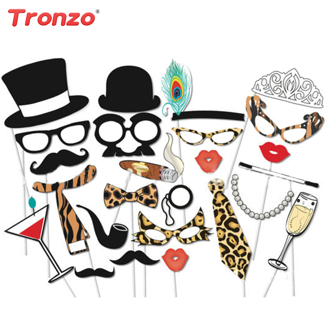 tronzo wedding decoration photo booth 25pcs sexy leopard funny beard rh aliexpress com Adult Birthday Celebration Clip Art Birthday Clip Art for Adults