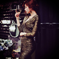 Original 2017 Brand Vestidos Spring Plus Size Laidy Sexy V Neck Slim Casual Elegant Gold Party Dresses Women Wholesale