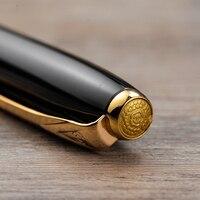 Hero 1079 черный металлическая шариковая ручка благородный роскошный Шариковая/знак/Письменные ручки Бесплатная доставка