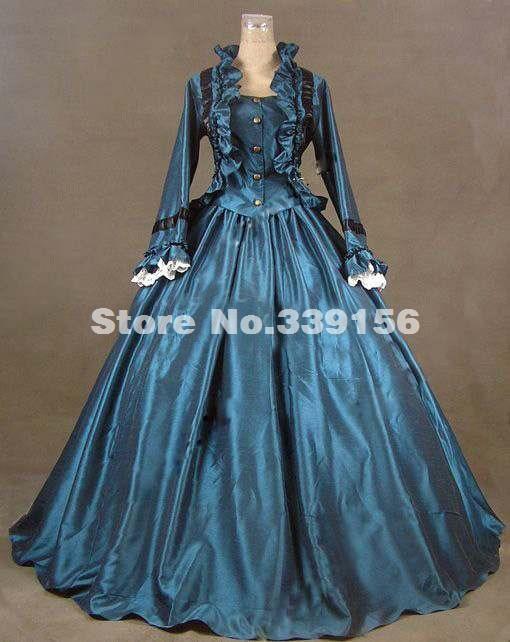 2016 Noble Blue Long Sleeve Medieval Civil War Victorian