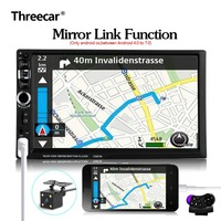 Android 2 Din Mirror Link 7 Bluetooth Car Radio Steering Wheel Control With Rear Camera 12