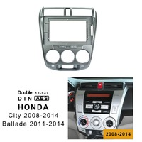 10.1 inch 2din car radio Fascia For HONDA CITY 2008 2009 2014 Stereo Panel Dash Mount Installation Double Din DVD frame In dash