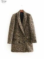 Модное пальто с леопардовым принтом