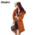 Oladivi gabardina larga de las mujeres 2016 nuevo invierno del otoño del resorte marca de moda más el tamaño 5xl abrigo rompevientos casacos femininos